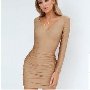 NWT Tiger Mist Olivia Dress Gold